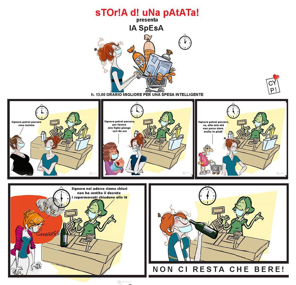 """""""Storia di una Patata"""", vignette ai tempi del Coronavirus"""